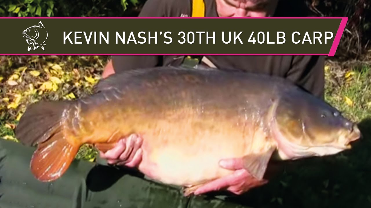NASH TV - KEVIN NASH 30TH UK FORTY! - EXCLUSIVE FOOTAGE - BIG CARP FISHING IN HD