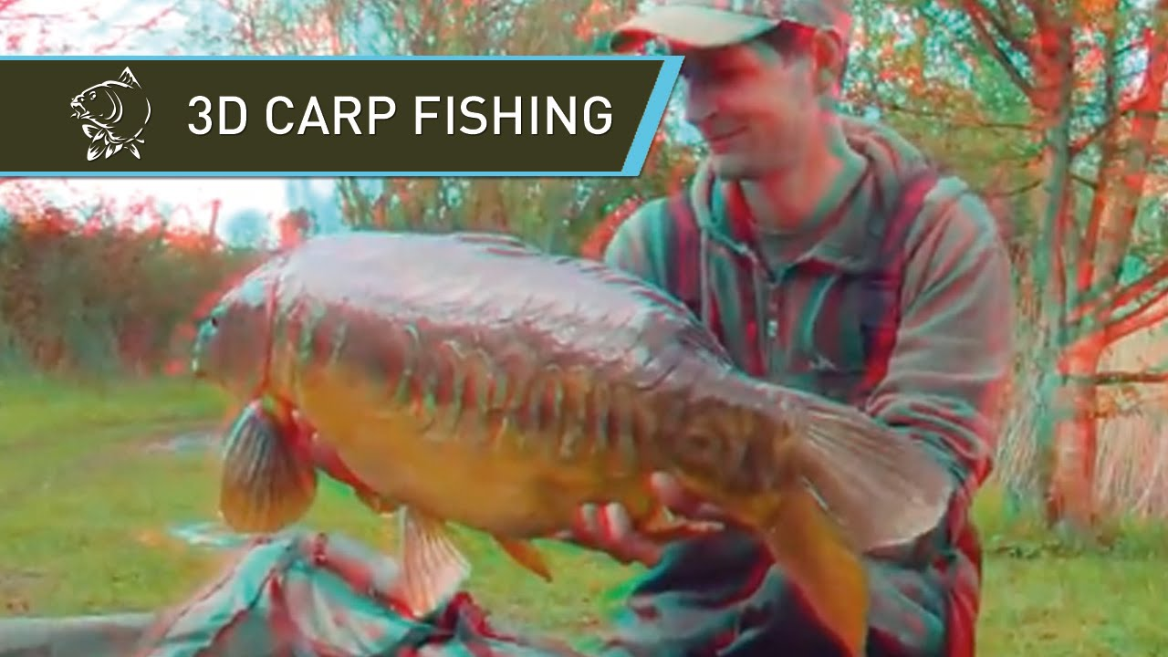 3D ANAGLYPH STEREOSCOPIC CARP FISHING VIDEOS - 49LB 38LB AND 24LB CARP IN 3D