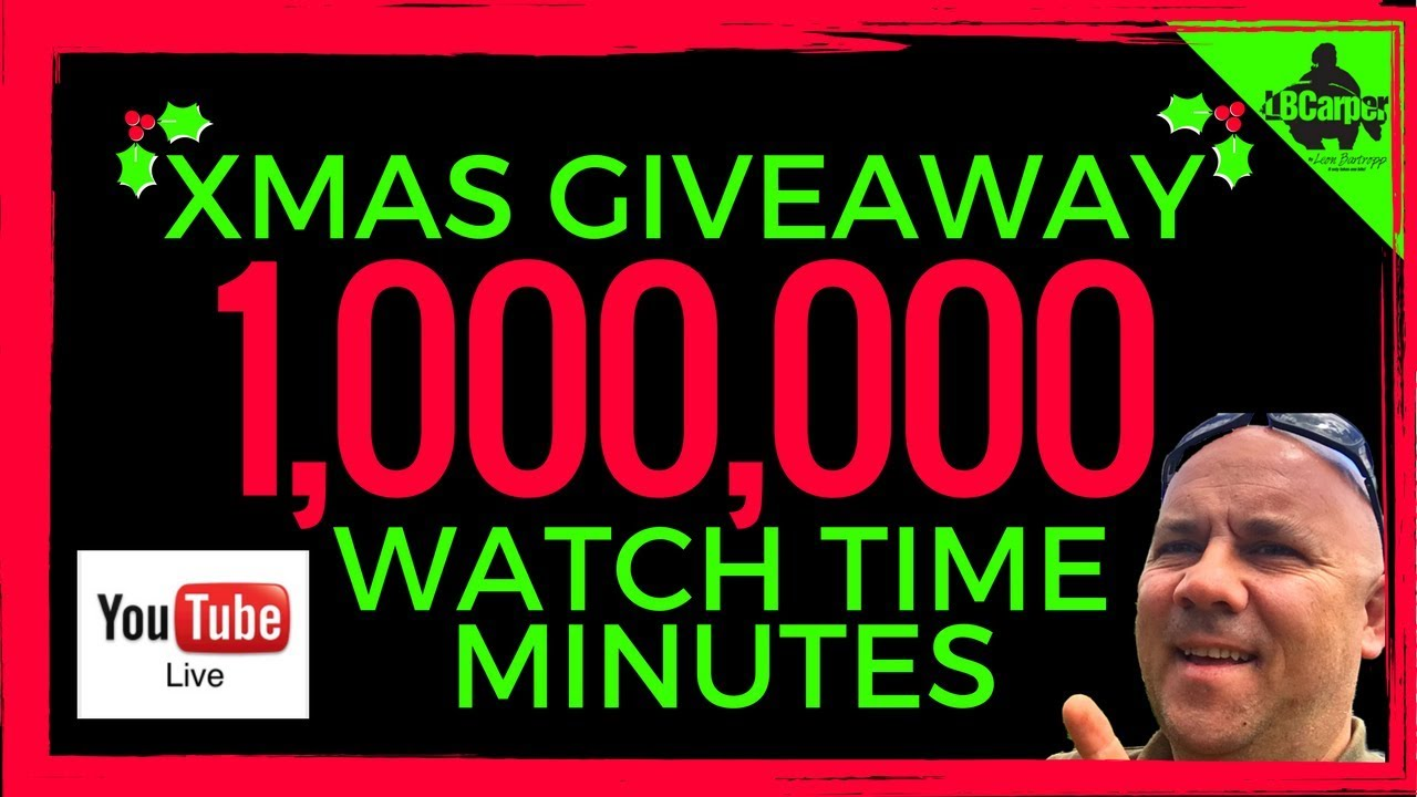 1,000,000 WATCH TIME MINUTES SUBSCRIBER CARP FISHING XMAS GIVEAWAY! 😀