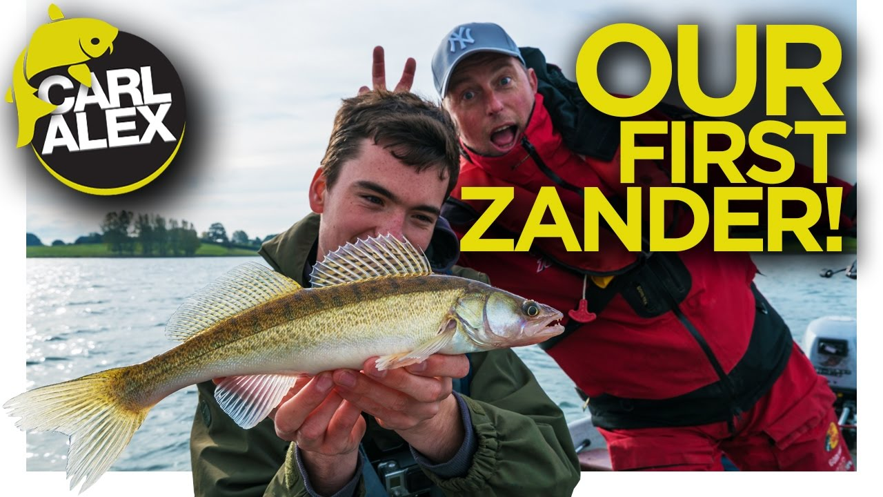 LURE FISHING ON A BOAT - Our first Zander