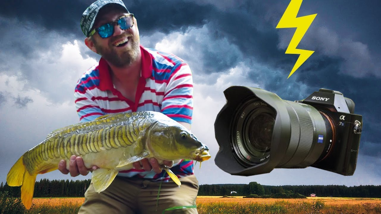 Fishing in a thunderstorm - OUR CAMERA BROKE