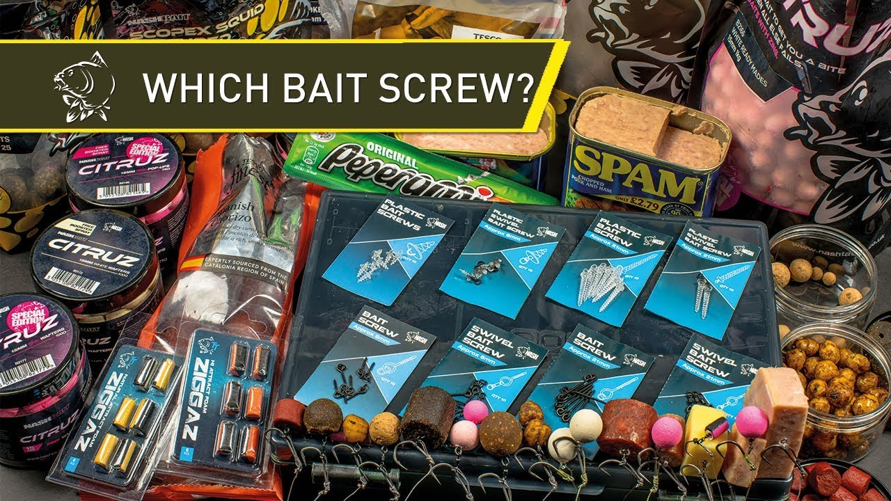 NASH TACKLE - When To Use Which Bait Screw?
